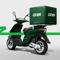 Motorcycle Delivery Box. 3D rendering; Shutterstock ID 578866720