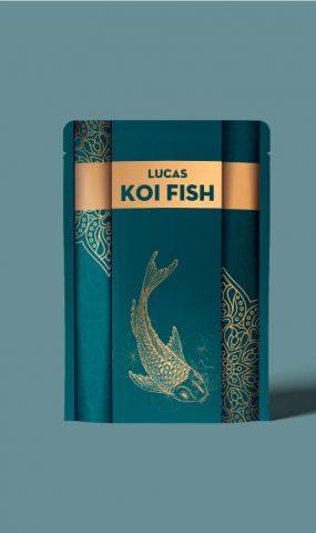 thiết kế bao bì cám cá KOI
